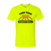 Custom Basketball Outline - Light Youth Ultra Performance 100% Performance T Shirt