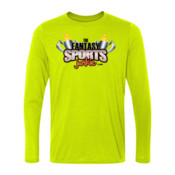 The Fantasy Sports Junkie - Light Long Sleeve Ultra Performance 100% Performance T Shirt