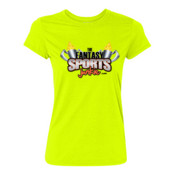 The Fantasy Sports Junkie - Light Ladies Ultra Performance 100% Performance T Shirt