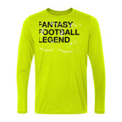 Distressed Fantasy Football Legend - Light Long Sleeve Ultra Performance 100% Performance T Shirt