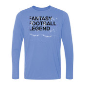 Distressed Fantasy Football Legend - Light Ladies Long Sleeve Ultra Performance 100% Performance T Shirt