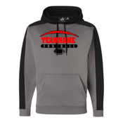 Football Laces Outline - JAmerica Polyester Fleece Hoodie