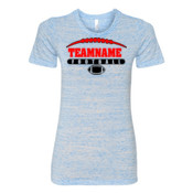 Football Laces Outline - (S) Ladies' Cotton/Polyester T-Shirt