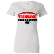 Football Laces Outline - (S) Ladies' Triblend Short Sleeve T-Shirt