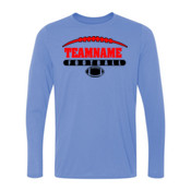 Football Laces Outline - Light Youth Long Sleeve Ultra Performance 100% Performance T Shirt