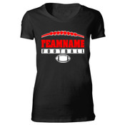 Football Laces Outline - Bella Favorite T-Shirt