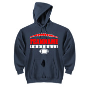 Football Laces Outline - DryBlend™ Pullover Hooded Sweatshirt
