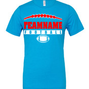 Football Laces Outline - Cotton/Polyester T-Shirt