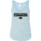 Fantasy Football Commish - Ladies' Flowy V-Neck Tank
