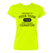 Custom Property of Your Fantasy Baseball - Light Ladies Ultra Performance 100% Performance T Shirt