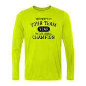 Custom Property of Your Fantasy Baseball - Light Ladies Long Sleeve Ultra Performance 100% Performance T Shirt