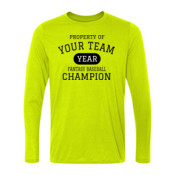 Custom Property of Your Fantasy Baseball - Light Youth Long Sleeve Ultra Performance 100% Performance T Shirt