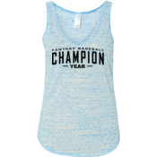 Custom Fantasy Baseball Champion Words - Ladies' Flowy V-Neck Tank