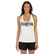 Custom Fantasy Baseball Champion Words - Alo Sport Ladies' Performance Racerback Tank