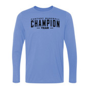 Custom Fantasy Baseball Champion Words - Light Ladies Long Sleeve Ultra Performance 100% Performance T Shirt