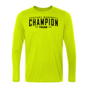 Custom Fantasy Baseball Champion Words - Light Long Sleeve Ultra Performance 100% Performance T Shirt