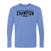 Custom Fantasy Baseball Champion Words - Light Youth Long Sleeve Ultra Performance 100% Performance T Shirt