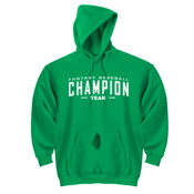 Custom Fantasy Baseball Champion Words - White - DryBlend™ Pullover Hooded Sweatshirt