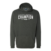 Custom Fantasy Baseball Champion Words - White - Tailgate Hoodie with Koozie & Bottle Opener