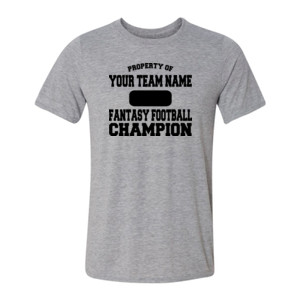 Custom Property of Fantasy Football Champion - Light Youth/Adult Ultra Performance 100% Performance T Shirt