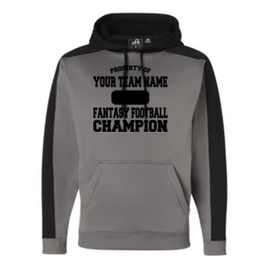 Custom Property of Fantasy Football Champion - JAmerica Polyester Fleece Hoodie