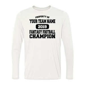 Custom Property of Fantasy Football Champion - Light Long Sleeve Ultra Performance 100% Performance T Shirt