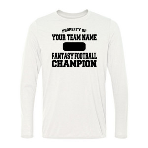 Custom Property of Fantasy Football Champion - Light Youth Long Sleeve Ultra Performance 100% Performance T Shirt