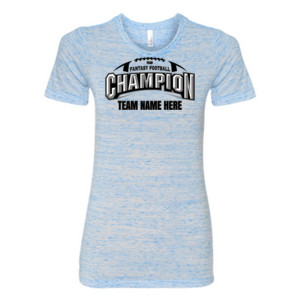 Fantasy Football Champion Arch Football - (S) Ladies' Cotton/Polyester T-Shirt