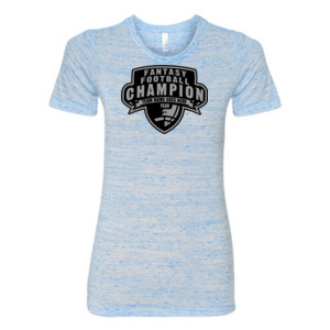 Custom Fantasy Football Champion Half Football - (S) Ladies' Cotton/Polyester T-Shirt
