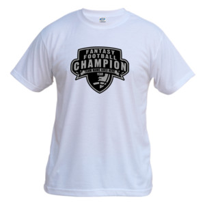 Custom Fantasy Football Champion Half Football - Vapor Basic Performance Tee