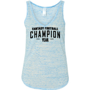 Custom Fantasy Football Champion Simple - Ladies' Flowy V-Neck Tank