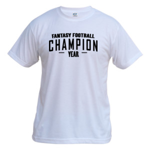 Custom Fantasy Football Champion Simple - Vapor Basic Performance Tee