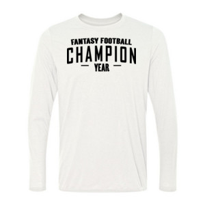 Custom Fantasy Football Champion Simple - Light Long Sleeve Ultra Performance 100% Performance T Shirt