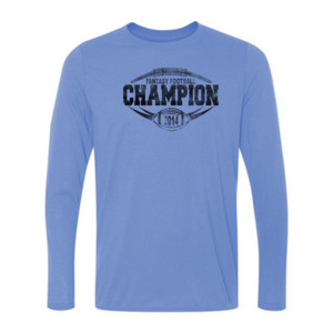 2014 Fantasy Football Champion H Outline - Light Ladies Long Sleeve Ultra Performance 100% Performance T Shirt