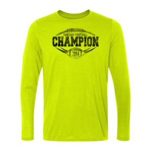 2014 Fantasy Football Champion H Outline - Light Long Sleeve Ultra Performance 100% Performance T Shirt