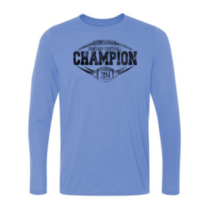 2014 Fantasy Football Champion H Outline - Light Youth Long Sleeve Ultra Performance 100% Performance T Shirt