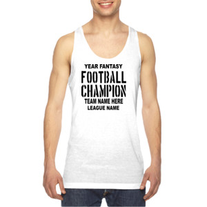 Fantasy Football Champion with League  - American Apparel Unisex Sublimation Tank