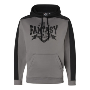 Fantasy Football Champion V Outline - JAmerica Polyester Fleece Hoodie