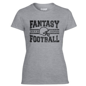 2015 Fantasy Football Champion H Helmet - Light Ladies Ultra Performance Active Lifestyle T Shirt