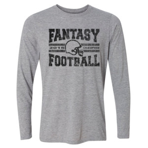 2015 Fantasy Football Champion H Helmet - Light Youth Long Sleeve Ultra Performance Active Lifestyle T Shirt