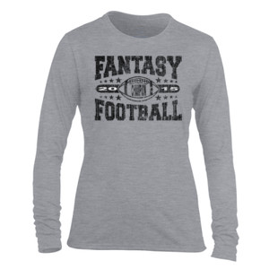 2015 Fantasy Football Champion Football - Light Ladies Long Sleeve Ultra Performance Active Lifestyle T Shirt