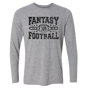 2015 Fantasy Football Champion Football - Light Long Sleeve Ultra Performance Active Lifestyle T Shirt