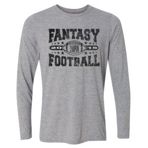 2015 Fantasy Football Champion Football - Light Youth Long Sleeve Ultra Performance Active Lifestyle T Shirt
