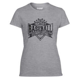 2015 Fantasy Baseball Champion Diamond Stars - Light Ladies Ultra Performance Active Lifestyle T Shirt