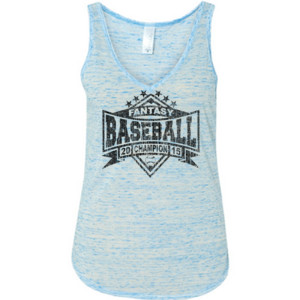 2015 Fantasy Baseball Champion Diamond Stars - Ladies' Flowy V-Neck Tank