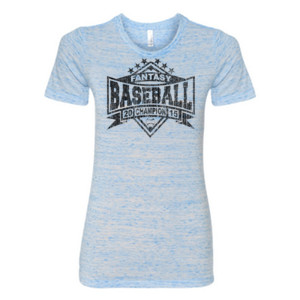 2015 Fantasy Baseball Champion Diamond Stars - (S) Ladies' Cotton/Polyester T-Shirt