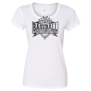 2015 Fantasy Baseball Champion Diamond Stars - Light ALO Sport Ladies' Polyester T-Shirt