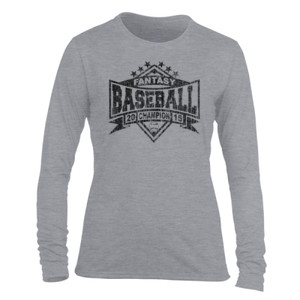 2015 Fantasy Baseball Champion Diamond Stars - Light Ladies Long Sleeve Ultra Performance Active Lifestyle T Shirt