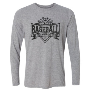 2015 Fantasy Baseball Champion Diamond Stars - Light Long Sleeve Ultra Performance Active Lifestyle T Shirt