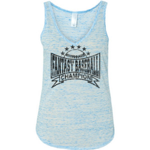 Fantasy Baseball Champion Baseball Stars - Ladies' Flowy V-Neck Tank